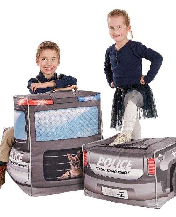 Kinder zitzak politieauto