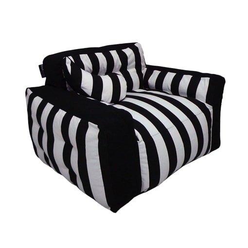 Outdoor zitzak stoel zwart-wit