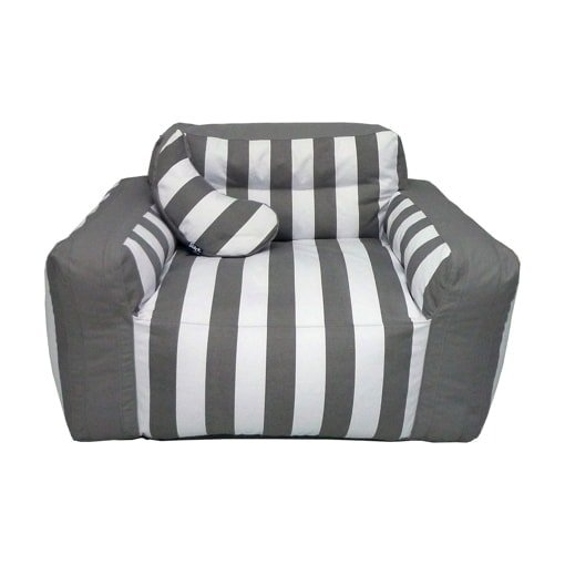 Outdoor zitzak stoel grijs-wit